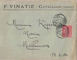 VAUCLUSE - CAVAILLON - MANUFACTURES DES BOITES METALLIQUES F.VINATIE - ENVELOPPE AVEC CORRESPONDANCE DU 13-1-1907. - Autres