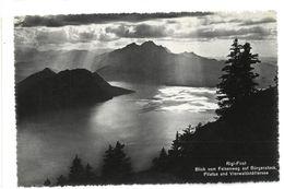 Svizzera Rigi-First Blick Vom Felsenweg Auf Bürgenstock Pilatus Und Vierwaldstättersee Viaggiata 1945 - Svizzera