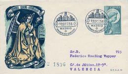 1956 , SOBRE DE PRIMER DIA , ED. 1195 , ARCÁNGEL SAN GABRIEL - FDC