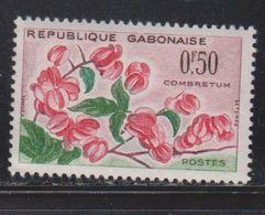 GABON Scott # 154 MH - Flowers - Gabon