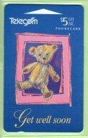 New Zealand - Gift Cards - 1994 Get Well Soon $5 - NZ-G-4 - Mint - New Zealand