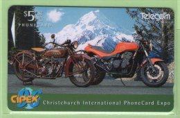 New Zealand - 1996 CIPEX - $5 Motorcycles - NZ-E-32 - Mint - New Zealand