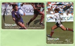New Zealand - 1994 Telecom Rugby Sevens Set (2) - NZ-E-12/13 - Mint - New Zealand