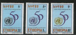 1995 Ethiopia UN United Nations Complete Set  Of 3 MNH - Ethiopie