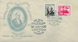 1948 , SOBRE DE PRIMER DIA , ED. 1037 , 1039 , CENTENARIO DEL FERROCARRIL - FDC
