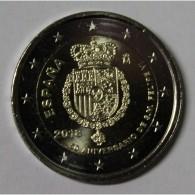 ESPAGNE - 2 EURO 2018 - 50ème Anniversaire Du Roi Felipe VI - SUP / FDC - Spain