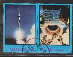 AJMAN Scott # ??? Used - Space Apollo 7 Mission - Stamps