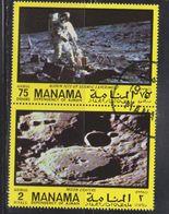 MANAMA AJMAN Scott # ??? Used - First Man On Moon - Stamps