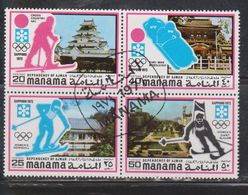 MANAMA AJMAN Scott # ??? Used - Winter Olympics Sapporo 1972 - Stamps