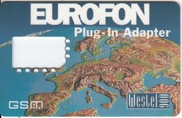 HUNGARY - Map, Eurofon, Westel 900 GSM, Sample - Hungary