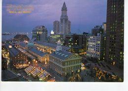 U2659 Postcard: BOSTON, FANEUIL HALL MARKET, Nuit Nocturne Night Nacht - MASSACHUSSETTS_ Not Writed - Boston