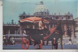 Roma San Pietro Vaticano Basilica S. Pietro Con Carrozza Botticella In 3 D T/G - San Pietro