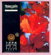New Zealand - 1996 Gold Bullion - $75 Maple Leaf - Mint In Telecom Collector Pack - NZ-IP-12 - Nouvelle-Zélande