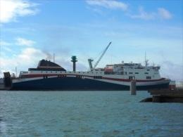 """BAT135ph - Car-Ferry """"NORMAN VOYAGER"""" - LD LINES - Accosté Au Port Du Havre - Veerboten"""