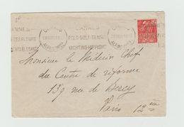 LSC 1931 - Cachet CANNES Et Flamme Sut YT 272 Seul Sur Lettre + Au Dos HOTEL Méditerranée Cannes - Marcophilie (Lettres)