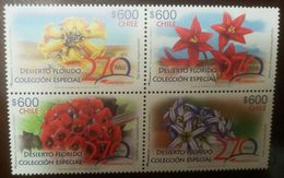 L) 2017 CHILE, FLOWERFUL DESERT, SPECIAL COLLECTION, NATURE, FLOWERS, RED, YELLOW, 270 YEARS MAIL, MNH - Chile