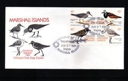 Marshall Islands 1989 Wandering Birds FDC - Albatrosse & Sturmvögel