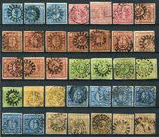 40477) BAYERN Wertziffer - Lot   Tolle Stempel   Aus 1850-62 - Bayern