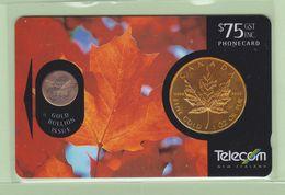 New Zealand - 1996 Gold Bullion - $75 Maple Leaf - NZ-I-9 - VFU - New Zealand