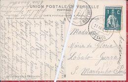 Raro Carimbo De S.Martinho.Postal Ilustrado Circulado Do Bussaco 1914.Rare Obliteration Of S. Martinho. Bussaco.2scn - 1910 - ... Repubblica