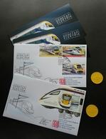 Malaysia Electric Train Service ETS 2018 Locomotive Railway (FDC) *signed *odd Shape *KTM Center Chop *Free Ticket *rare - Malaysia (1964-...)