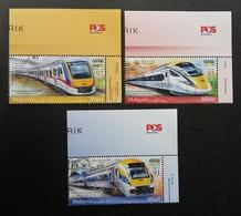 Malaysia Electric Train Service ETS 2018 Locomotive Railway Transport Vehicle (stamp Logo) MNH - Malaysia (1964-...)