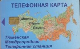 TUMEN,TJUMEN : 087003 30   Map Russia+EANHNU USED - Russia