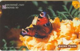 EKATERINSBURG : EKB049E2 300 Vanessa Io Butterfly Thermo 10.02 USED Exp:31.10.2002 - Russie