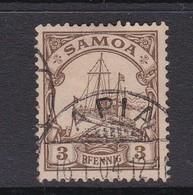 Samoa 1900 Kaiser's Yacht 3 Pf Brown,used - Samoa