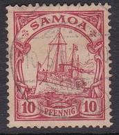 Samoa 1900 Kaiser's Yacht 10 Pf Carmine,used - Samoa