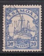 Samoa 1900 Kaiser's Yacht 20pf Ultra,used - Samoa