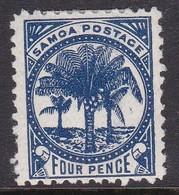 Samoa SG 61a 1895-1900 Four Pence Blue,Mint Hinged - Samoa