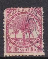 Samoa SG 63 1895-1900 One Shilling Rose,used Short Perforation - Samoa