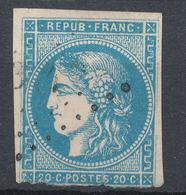 N°45  BORDEAUX VARIETE FILET - 1870 Bordeaux Printing