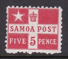 Samoa SG 72 1895 5 Pence Vermillion,mint Never Hinged - Samoa
