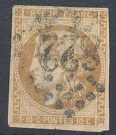 N°43  BORDEAUX BISTRE FONCE VARIETE FLEURON INF DROIT - 1870 Bordeaux Printing