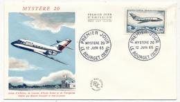 Enveloppe FDC - 2,00F Mystère 20 - Le Bourget 1965 - FDC