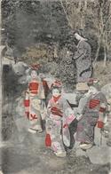 Geisha - Japon, Groupe De Geishas - Carte Colorisée 1917 - Asie