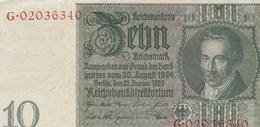 BILLET DE BANQUE...ALLEMAGNE   10 - Germany