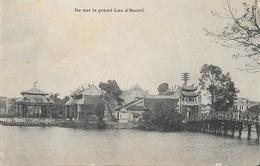 Viet-Nam (Tonkin) - Ile Sur Le Grand Lac D'Hanoï - Carte Dos Simple Non Circulée - Viêt-Nam