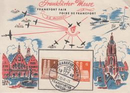 Carte   ALLEMAGNE   Foire  De  FRANCFORT    1948 - [7] République Fédérale