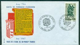 DE GAULLE 1967 ANDORRE VISITE DU GENERAL TB. - De Gaulle (General)
