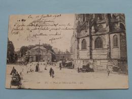 Place De L'Hôtel-de-Ville ( 126 ) Anno 1903 ( Voir Photo ) ! - Eu