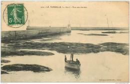 44 LA TURBALLE. Vue Des Jetées 1914 - La Turballe