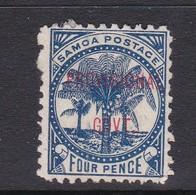 Samoa SG 93 1899 Surcharged Provisional Govt,Four Pence Mint Hinged - Samoa
