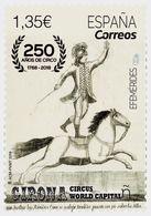 Spain 2018 1 V MNH 250 Years Of Circus Horses Horse Chevaux Cheval Cirque - Circo