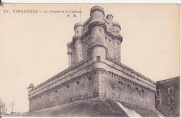 CPA -  53. VINCENNES - Le Donjon Et Le Château - Vincennes