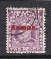 Samoa SG 117 1914 New Zealand Stamp Overprinted,two Penny Mauve,used - Samoa