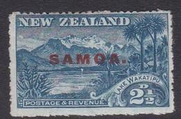 Samoa SG 118 1914 New Zealand Stamp Overprinted,two And Half Penny Blue,mint Hinged - Samoa