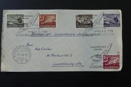 Devant De Lettre Premier Vol Luxembourg Zurich 1948 (ex2) - Brieven En Documenten